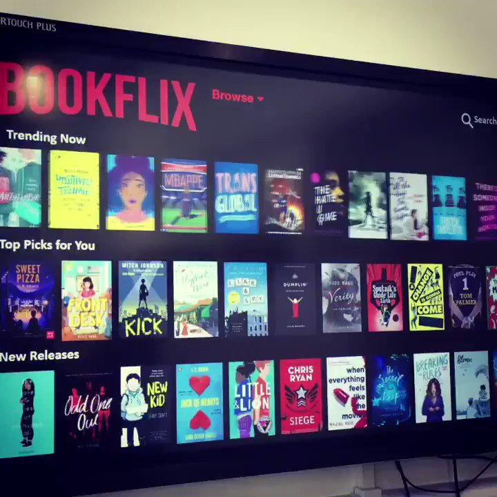 I am SO pleased with how this turned out! #Bookflix #GreatSchoolLibraries