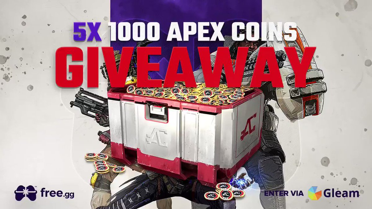 🚨 Giveaway Alert 🚨  💰 5x Apex Coins Giveaway 💰  To Enter: ✅ - RT & Follow ✅ - Complete Entry here: http://go.free.gg/ga  👉 48 Hours - Best of luck! #ApexLegends #ApexCoins