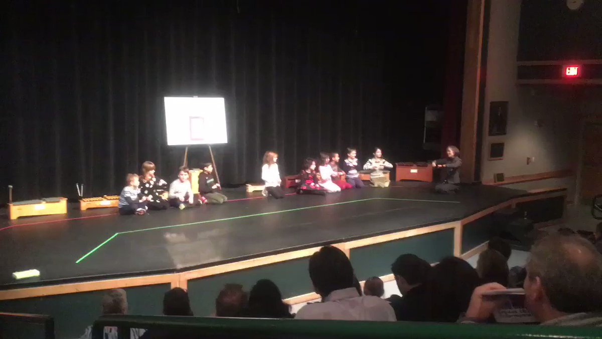 2nd Grade demonstrating what they have learned in music.