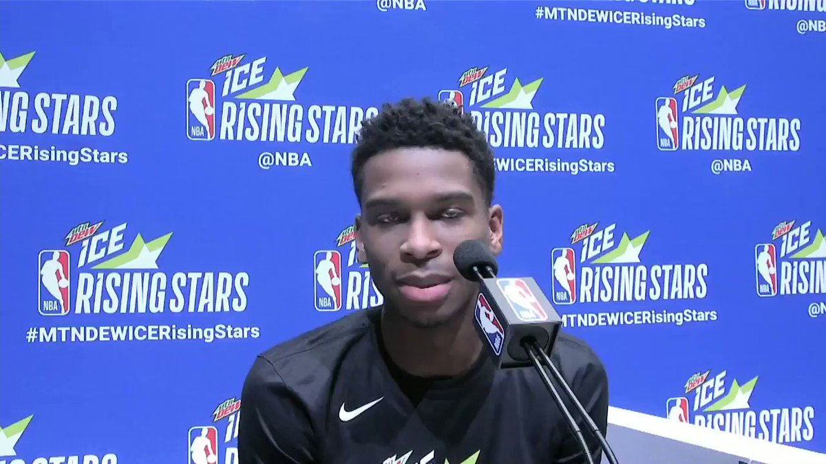 .@shaiglalex talks about growing up in 🇨🇦 watching the @Raptors!   #NBAAllStar   #ClipperNation