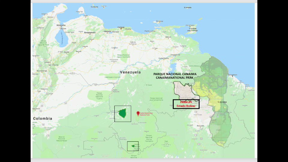 """Devastación del Río Ikabarú, afluente del Río Caroní por minería ilegal en PARKUPI afecta PN Canaima, Embalse Guri y comunidades indígenas. @NicolasMaduro @EjercitoFANB @vladimirpadrino @REDIGUAYANA2013 convirtieron esta zona en """"Base de Apoyo Estratégica"""" para el #narcorégimen"""