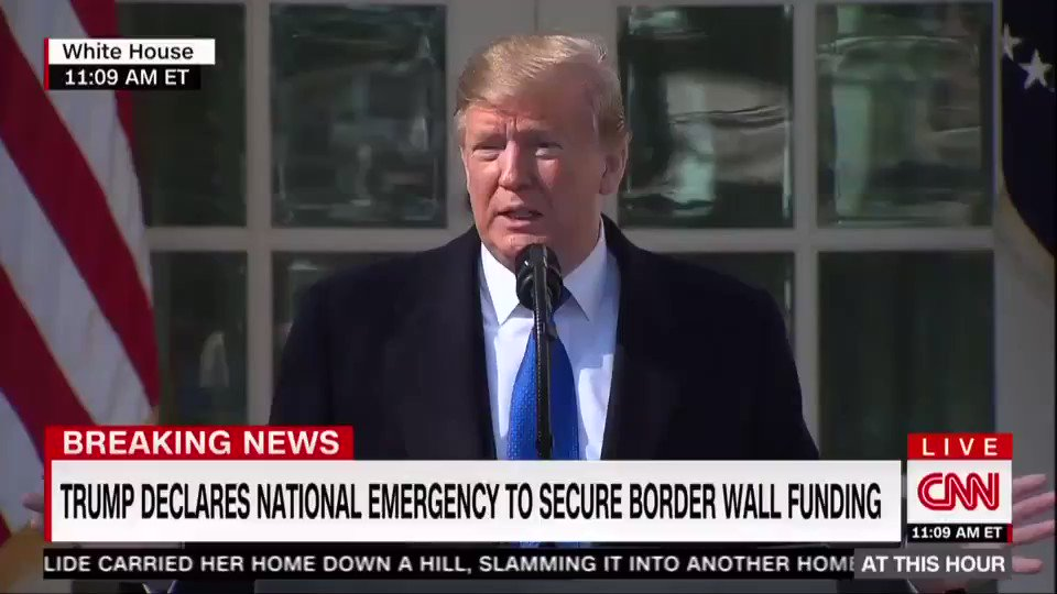 "He admits it's a #FakeTrumpEmergency. Hear him say it: ""I *didn't need* to do this, but I'd rather do it much faster."""