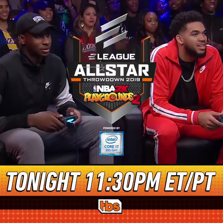 Missed the game?  You can catch the ELEAGUE NBA @2KPlaygrounds 2: All-Star Throwdown 2019 powered by @IntelGaming again tonight at 11:30pm ET/PT @TBSNetwork