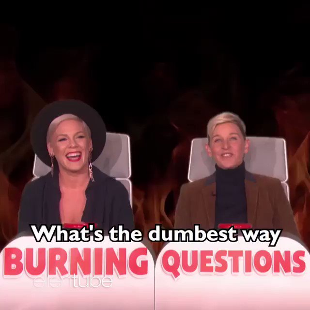 MUST WATCH: @Pink explains the dumbest way she's ever hurt herself and I can't stop laughing. (via @TheEllenShow)
