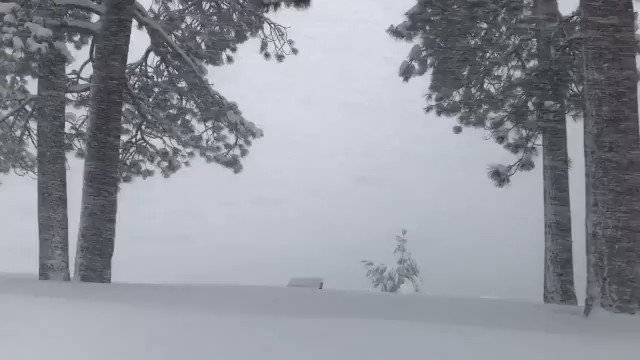 ❄️ MAGICAL WINTER: Travel to Tahoe is highly discouraged this weekend, but we can't get over how beautiful it looks. https://www.kron4.com/kron-on