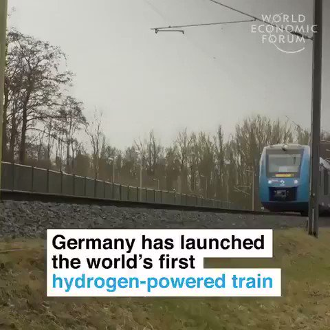 Germany just launched the world's first hydrogen-powered train. It emits nothing but water and steam!   We have solutions to the #climate crisis. Time to implement them. @JustinTrudeau  #ActOnClimate #climatechange #tech #Sustainability #greenenergy #transportation