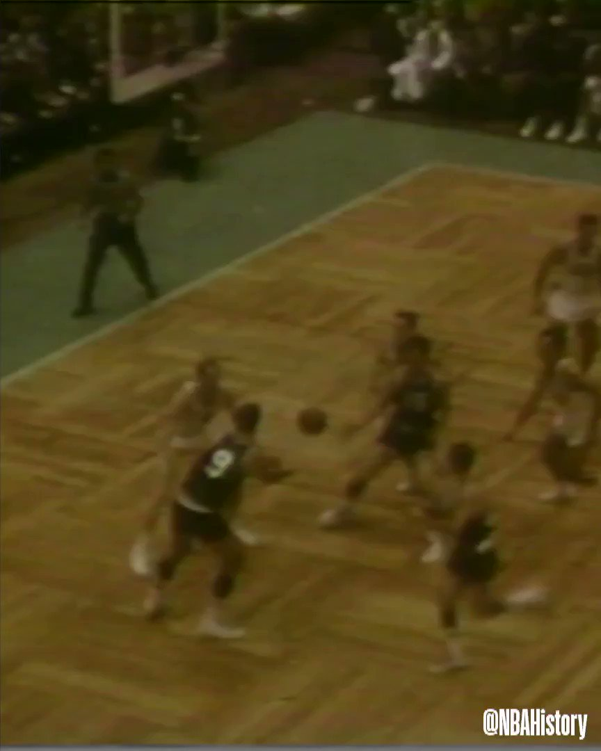 1957 @NBAAllStar... Bill Sharman tosses in a FULLCOURT shot! #NBAAllStar
