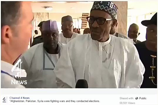 Less we forget, this was what Buhari said when election was postponed by INEC in 2015.  #NigeriaDecides2019 #INEC