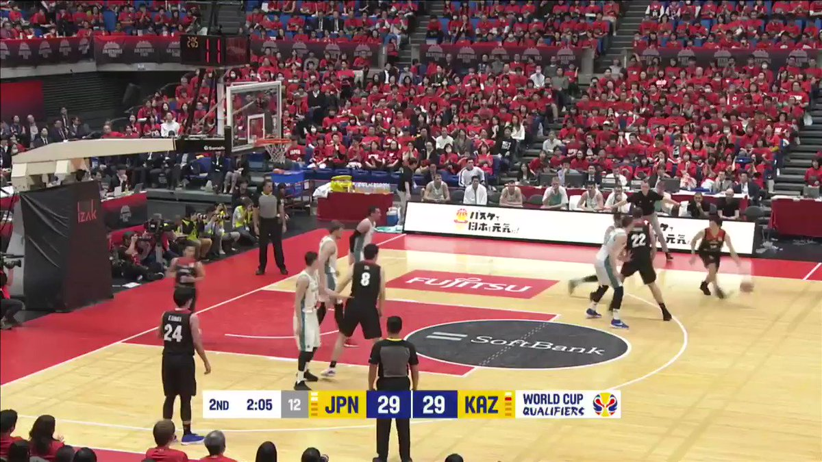 Big @NickFazekas in 🎬!  #FIBAWC #ThisIsMyHouse @JAPANBASKETBALL