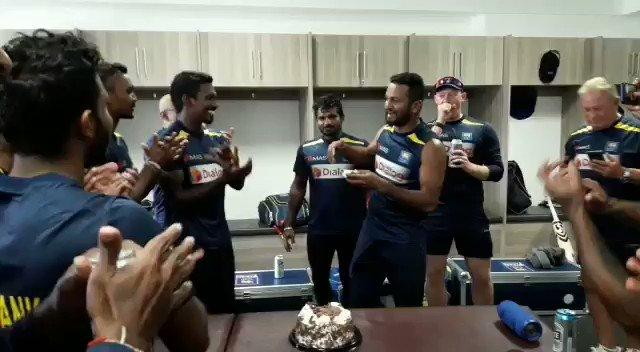 Sri Lanka Cricket team celebrating the historic Test win in South Africa #Cricket #KJP