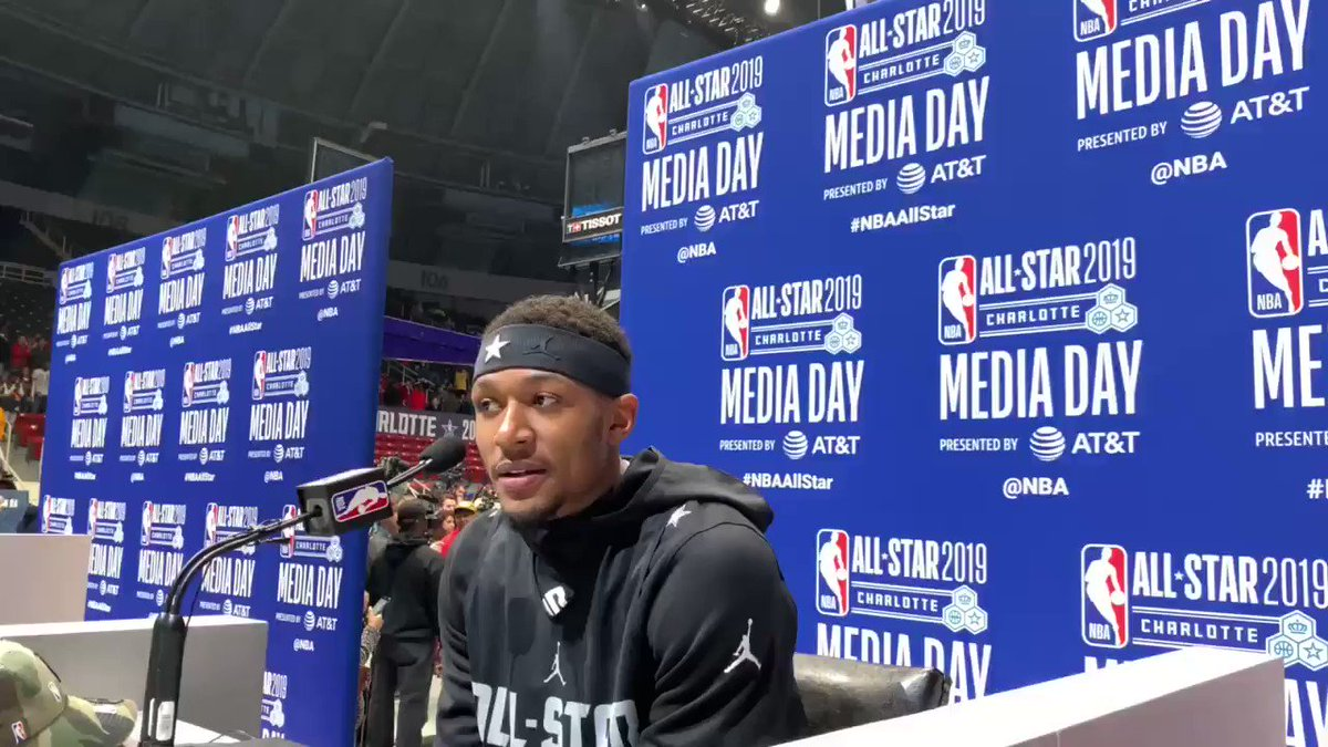 """.@RealDealBeal23 """"My journey is awesome."""" #NBAAllStar #DCFAMILY  – at Bojangles' Coliseum"""