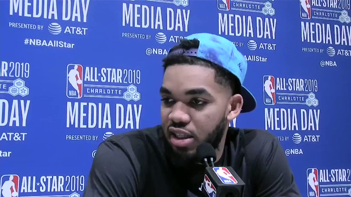 """Their talent, their determination, their drive... it's almost unmatched by any other athlete.""  @KarlTowns gives props to the #WNBA stars in Minnesota 🔊👏 @minnesotalynx #NBAAllStar"
