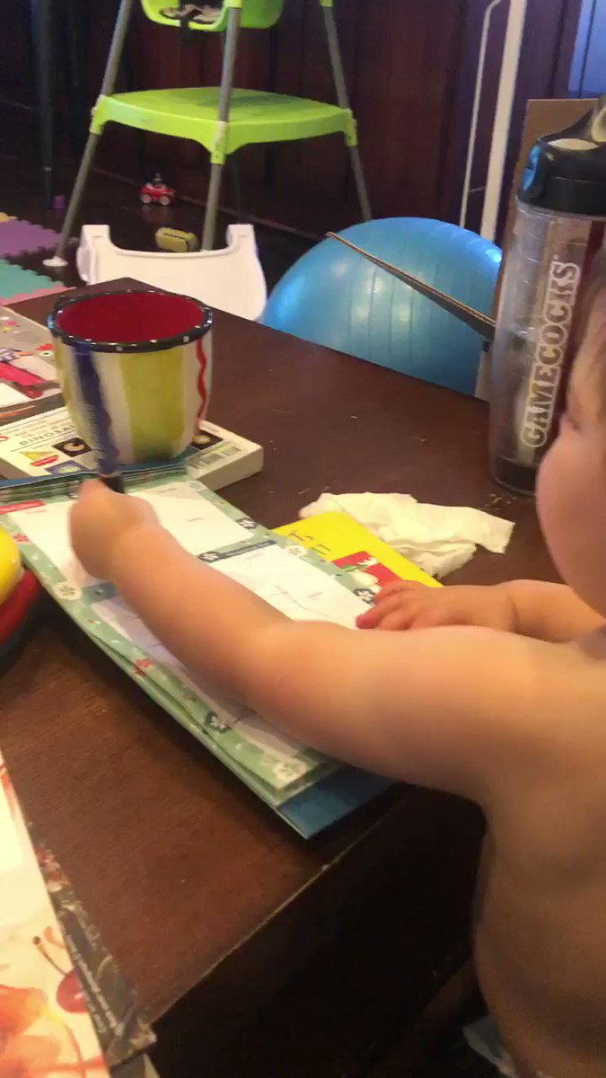 My kid is 18 months and his pen form is better than mine