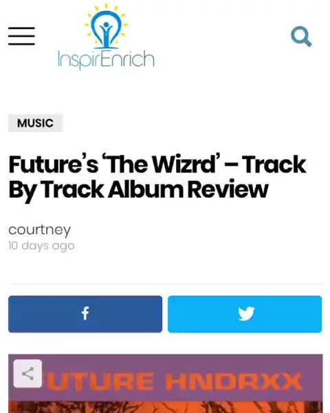 """#ICYMI ❄️ ☄️ Album Review ☄️ ❄️ http://inspirEnrich.com • • 💥""""The """"#Wizrd"""" Super #HNDRXX gifts us with a fresh release to start of 2019 with a bang following on from 2018 which for most of the criticswasn't his strongest.""""👇 💥 • • #THEWIZRD #FBG #WIZRDALBUM"""