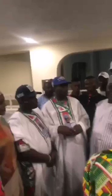 """Some @OfficialPDPNig youth leaders updating @atiku on how they settle the different support groups that attend his campaign rallies with 200k Naira per group.  """"Sauces"""" have it that, the #atikuinkano rally was hugely sponsored by that arrangement.  A tactics @KwankwasoRM uses."""
