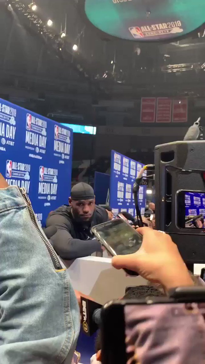 Asked @KingJames the importance of standing with KAP as an fellow athlete ( @BET at All star 2019 )