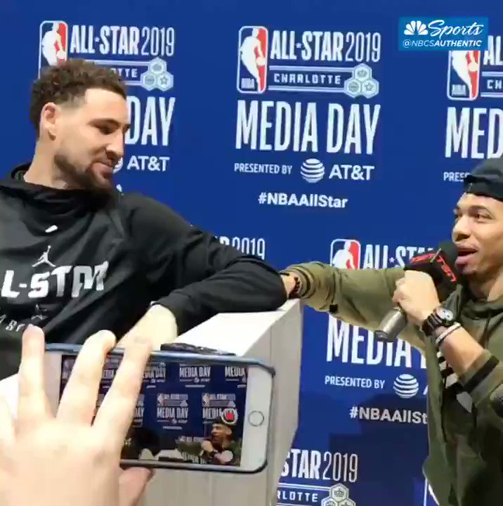 "Klay Thompson, Golden State Warrior who was part of the NBA team that didn't visit Trump's WH, joked that he's not participating in the 3-point contest because there's already ""too many light skins for him this year"" Imagine if a white Republican player had joked about this topic"