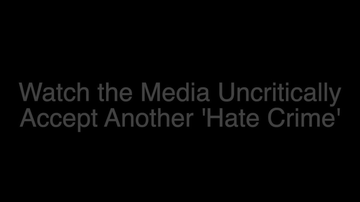 Montage of mainstream media spreading fake news that #JussieSmollett was attacked by white men in MAGA hats.