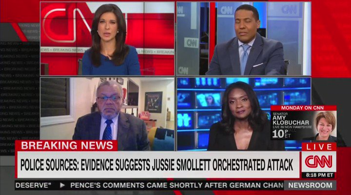 """CNN's @brianstelter on Smollett: """"Perhaps the questioning was not tough enough on Good Morning America, but ultimately this is not about the media or politicians or activists, or any of the other people that might have been fooled. It's about Jussie."""""""