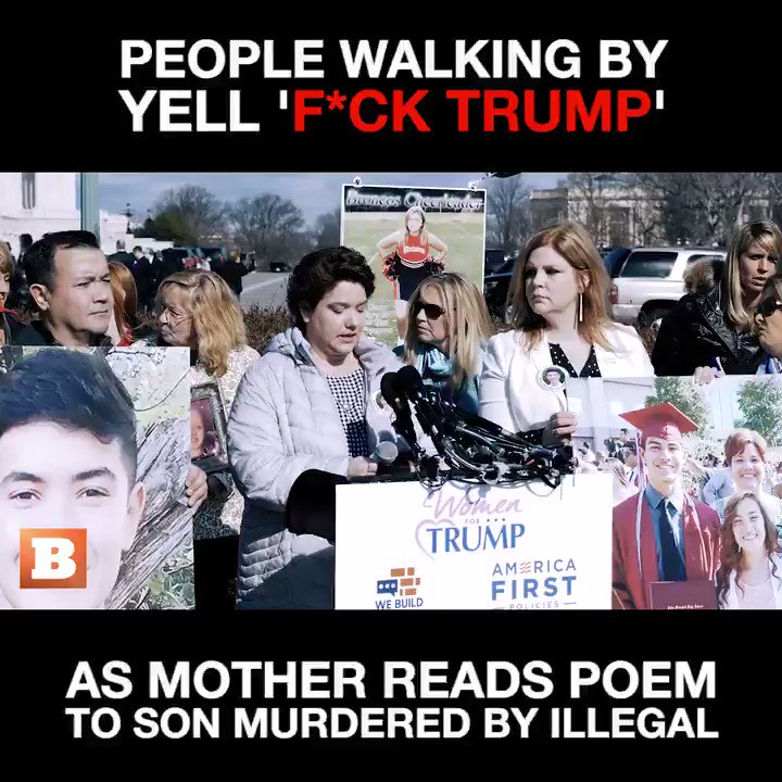 💔This is heartbreaking 💔  Mother reads Poem about her son being killed by an illegal & the audacity: F **k Trump  Where has compassion & respect gone? Honestly I'm sick of what our country has become; a Nation who no longer regards human life or laws 😢