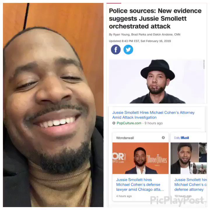 HOLD UP! Why did Jussie Smollet hire Michael Cohens Lawyer?  Robert Mueller need to drop the Russia Investigation & and investigate this Hoax!  America is so great he had to hire 2 Nigerians to oppress him & blame it on 2 white Trump Supporters.   RT if you're Laughing with me