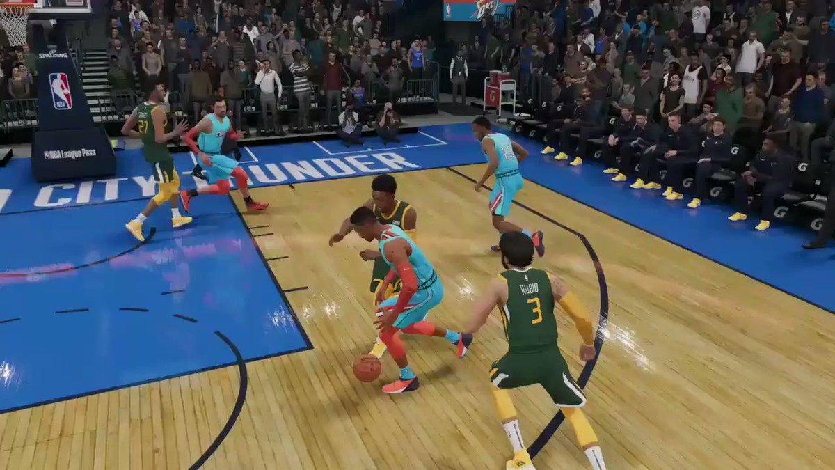 Contusão no jogo ...  Novidade depois das últimas atualizações !!! @EASPORTSNBA evoluindo. #NBALIVE19 🎥 @DorettoNathan