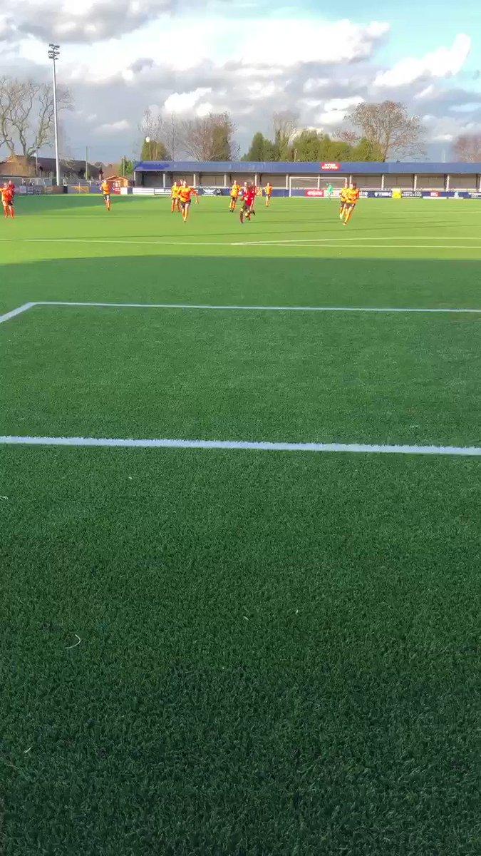 87' Goal!! @charliedevlin98 lobs the keeper from a @laurenjamess22 through ball, 3-0. #MUWomen