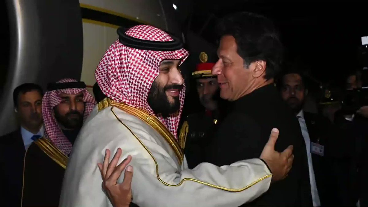 Saudi Crown Prince Mohammed bin Salman arrives in #Pakistan