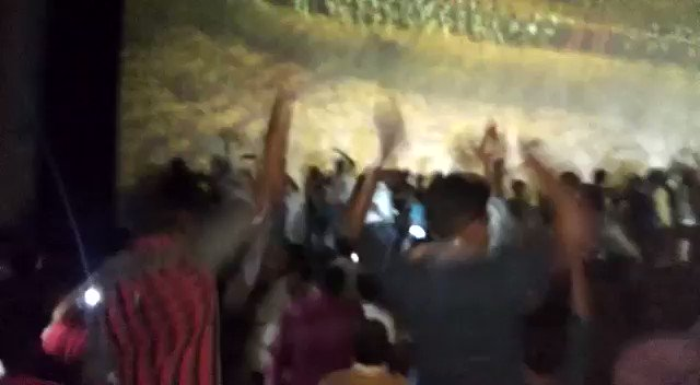 The celebration that Dindigul never witnessed!  #Mersal திருவிழா celebrated yesterday at Ganesh Theatre!