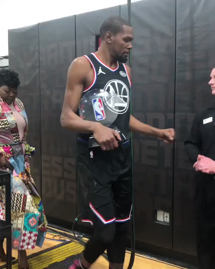 """What a great weekend...""   @KDTrey5 signs off following #NBAAllStar! 🏆"