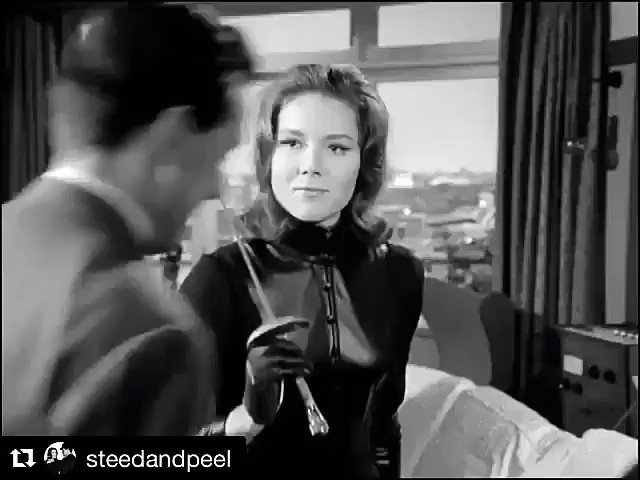 """#dianarigg  and #patrickmacnee  in """"The avengers"""". 1961-1969."""