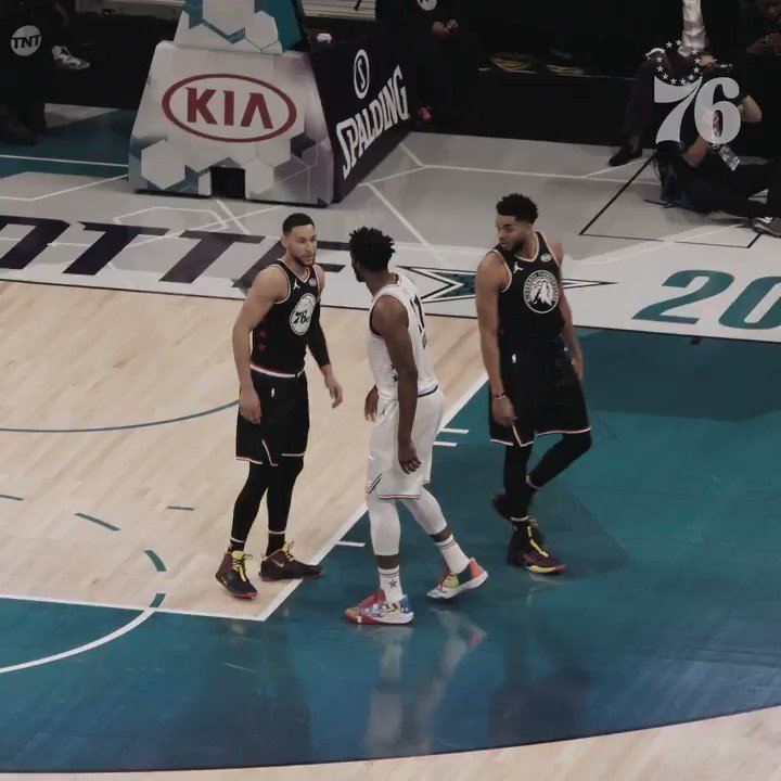 Image for the Tweet beginning: 2019 #NBAAllStar Weekend in one
