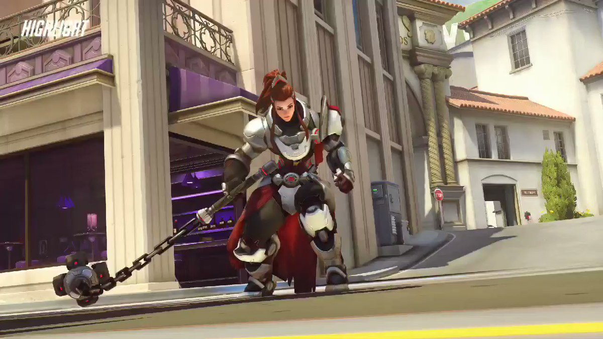 Quick highlight from my @twitch stream @PlayOverwatch with @smokelesspanic & nukatron. I really love playing Brigitte. #TwitchFam #overwatch #brigitte #SupportSmallStreamers #twitchaffiliate #highlights