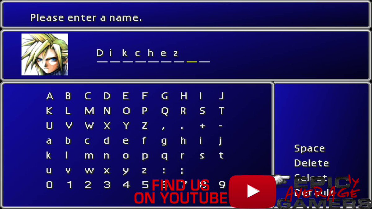 It's such a magical moment naming your Final Fantasy VII characters... #finalfanstasy #finalfantasyVII #Finalfantasy7 #FF7 #FFVII #gaming #gamersofinstagram #fail #rpg #funny #letsplay