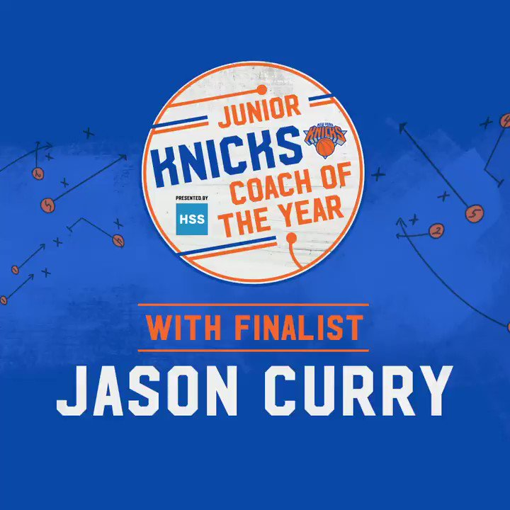 As president and coach of Big Apple Basketball for 15 years, Jason Curry uses the game to help kids grow on & off the court. He's one of five coaches nominated for Junior Knicks Coach of the Year pres. by @HSpecialSurgery. Retweet to vote for Coach Curry! #CoachJason #JrKnicks