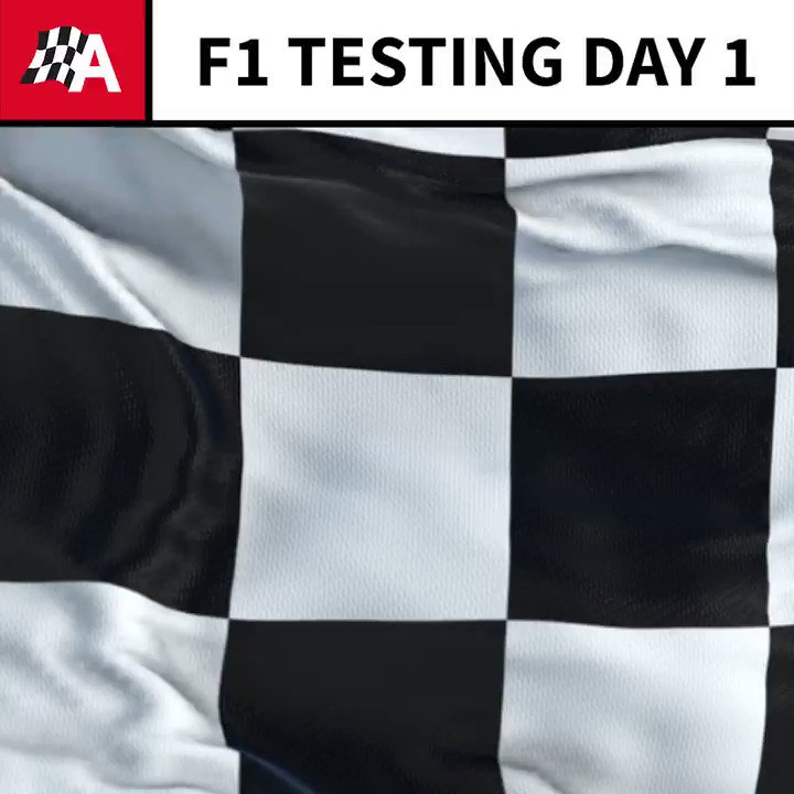 Here's how they stand at the end of the first day of #F1 pre-season testing