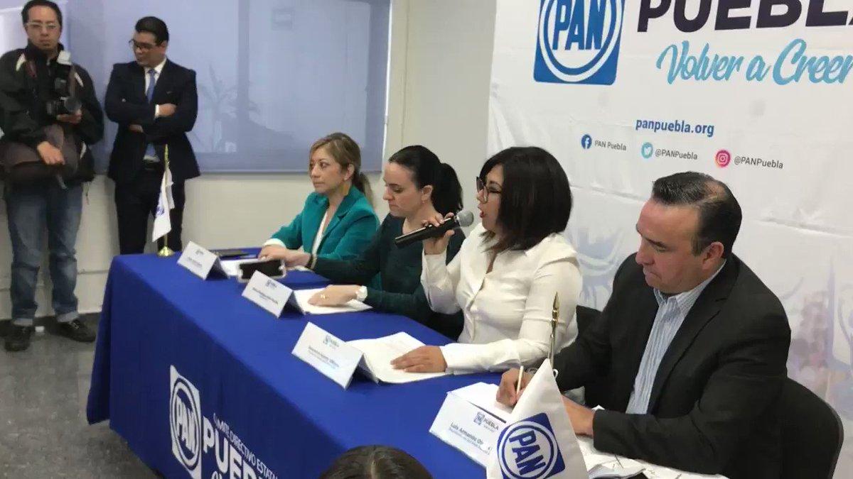 """Ahora el @PANPUEBLA acusa que se avecina una """"elección de estado""""; advierte la dirigente @GenovevaHuerta que no lo van a permitir y critica la inexperiencia de los gobiernos municipales de @MorenaEnPuebla.    @e_consulta @periodistasoy"""