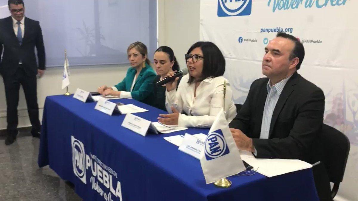 La dirigente del @PANPUEBLA (@GenovevaHuerta) evade la responsabilidad de exalcaldes panistas sobre la inseguridad en Puebla y San Andrés Cholula, que ahora atribuye a @MorenaEnPuebla.    @e_consulta @periodistasoy