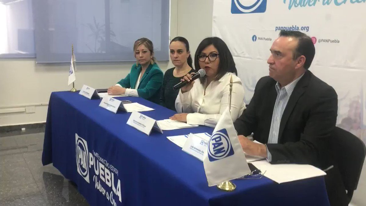 Evita @GenovevaHuerta revelar terna de aspirantes a candidatura del @PANPUEBLA a la gubernatura y atribuye la elección de estado a @lopezobrador_ y @GuillermoPaP.    @e_consulta @periodistasoy