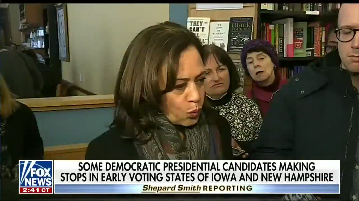 """Sen. Kamala Harris (D-CA) on her tweet saying the Jussie Smollett case was an """"attempted modern-day lynching"""":  """"Which tweet? What tweet? … [laughs] Um, ah, ah, uh, okay, so I will say this about that case, I think the facts are still unfolding and um, I'm very, um, concerned"""""""
