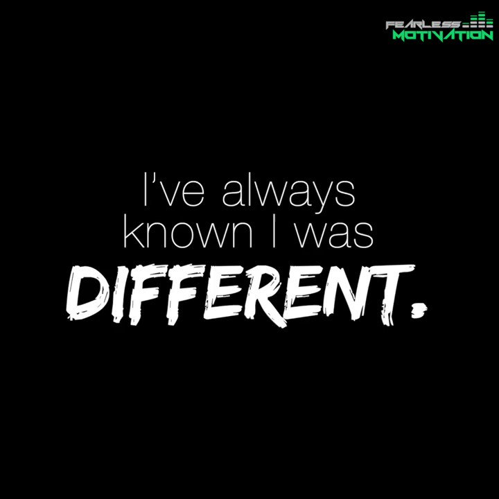 I've always known I was different… https://buff.ly/2UXMBcC
