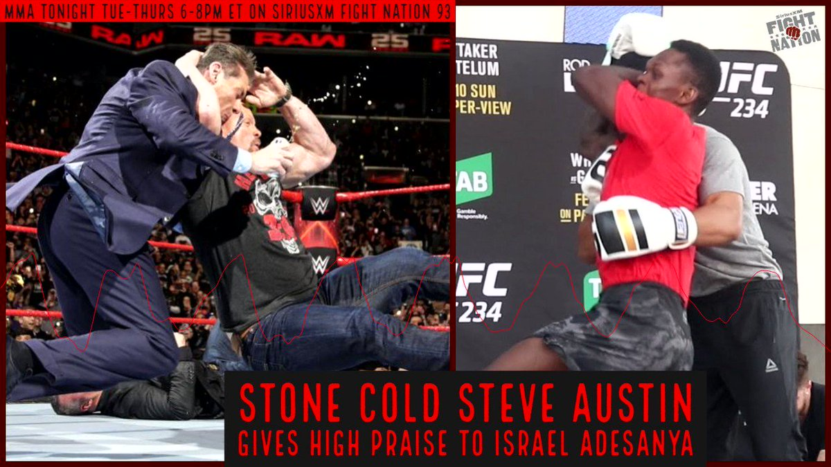 What did @steveaustinBSR think about @stylebender using the Stone Cold Stunner? He got a kick out of it, but there is just one problem… @RyanMcKinnell  @MieshaTate  #ThatstheBottomLine #BecauseStoneColdSaidSo