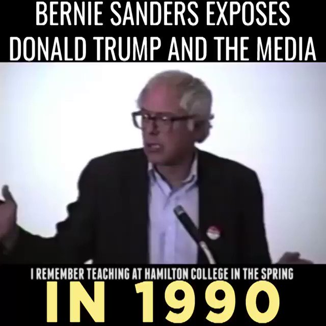 Remember when BernieSanders warned us about Donald Trump's ability to manipulate the media in 1990? #FeelTheBern