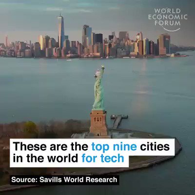 These are the top nine cities in the world for tech