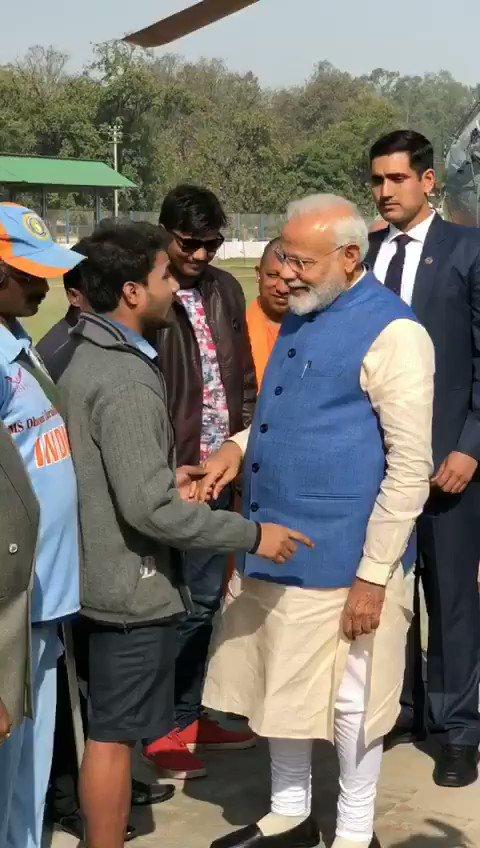 दिव्यांगजन द्वारा माननीय प्रधानमंत्री श्री @narendramodi जी का स्वागत।