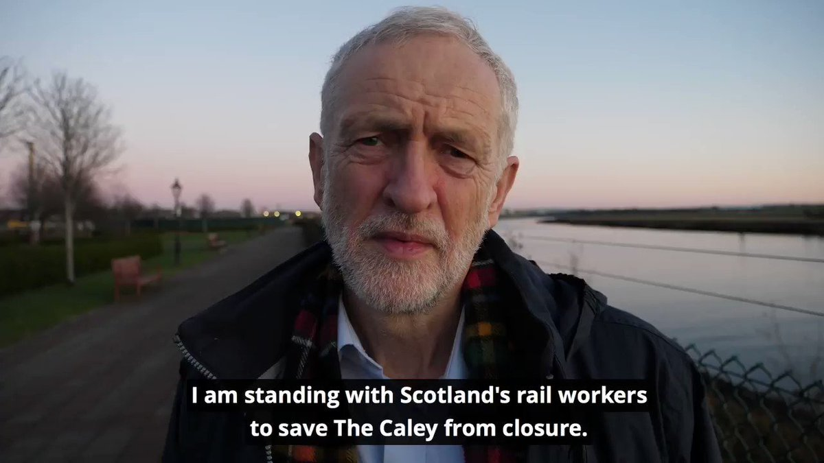 The Caley railway works in Glasgow is set to close, with hundreds of workers facing redundancy.  @JeremyCorbyn has joined the campaign to save the yard ahead of Scottish Labour raising their case at Holyrood later today. #RallyRoonTheCaley