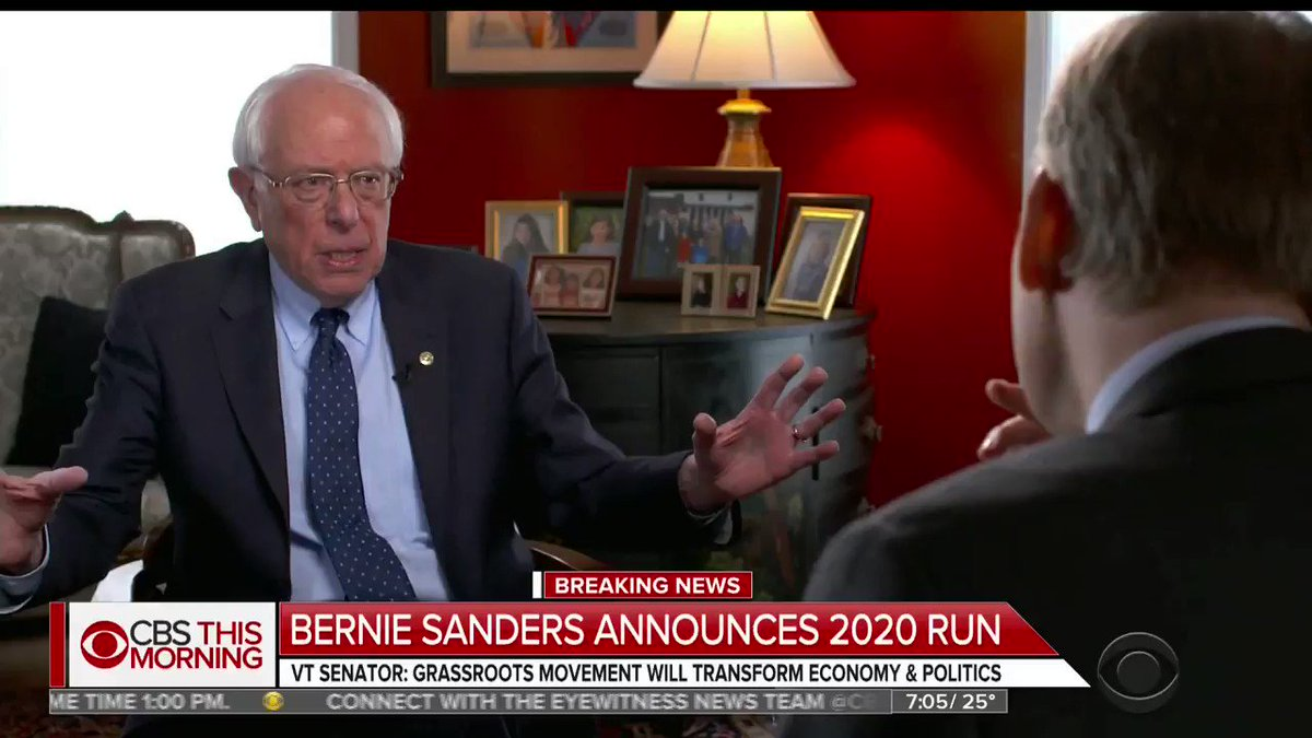 """Socialist Sen. Bernie Sanders (I-VT) says """"most people"""" would say the Democratic Party has moved leftward, adopted his radical ideas"""
