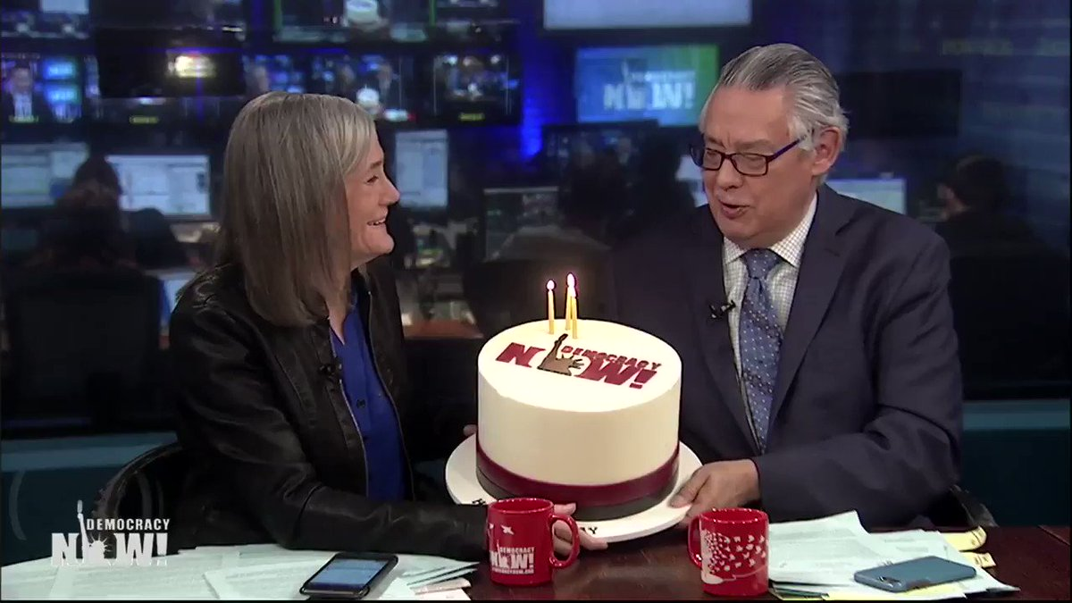 🎂 Today we're celebrating our 23rd birthday! Our first broadcast was February 19, 1996. Thank you to our staff, volunteers and global audience for tuning in for over two decades and supporting our independent news hour—You make this possible. Donate here: https://www.democracynow.org/donate/sp-20190219-twt…