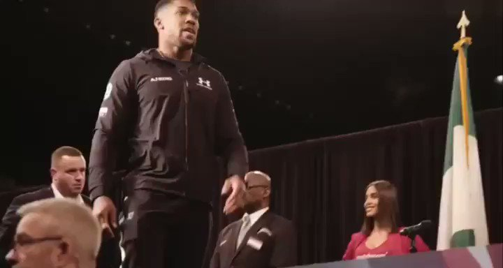 Anthony Joshua calls Jarrell Miller 'a fat fool' in response to shove in heavyweight face-off