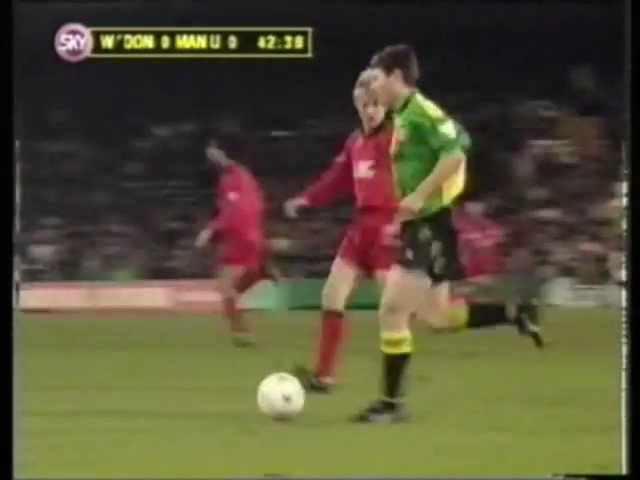 It's 26 years to the day since Eric Cantona did this vs Wimbledon. Never mind your seagulls and your trawlers, this is fucking sensational technique.